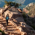 Returning uphill on some of South Kaibab's many giant steps.- South Kaibab Trail Day Hike