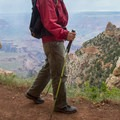 Trekking poles can help a lot on this steep trail.- South Kaibab Trail Day Hike