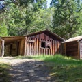 Whisky Creek Cabin in the Rogue River Canyon.- Whisky Creek Cabin