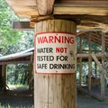 The water is not potable.- Whisky Creek Cabin