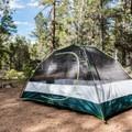 Setting up camp in Mather Campground, Grand Canyon National Park.- Mather Campground