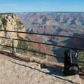 Pausing to take it all in.- Rim Trail