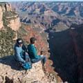 Enjoying an easy morning on the rim, Grand Canyon National Park.- Rim Trail