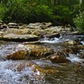 A creek on the way to Rainbow Falls.- Rainbow Falls Trail via LeConte Creek
