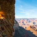 A window in the wall near the top of Bright Angel Trail.- Bright Angel Trail Day Hike