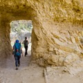 Tunnel through the Kaibab Limestone near the top of Bright Angel Trail.- Bright Angel Trail Day Hike
