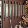 The hut is usually stocked with chopped wood.- Paul Ridge + The Red Heather Hut