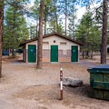 One of many bathrooms spread throughout the campground.- Mather Campground