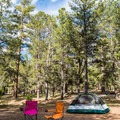 Mather campground offers plenty of shade in nearly all sites.- Mather Campground
