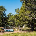 Sites are not huge, but there is still some room to spread out.- Desert View Campground