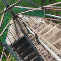 The fire tower steps lead to a 360-degree view.- Gile Mountain