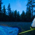 Waking up just before sunrise at Ten-X Campground. Catch it on the rim if you can!- Ten-X Campground