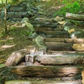 Stone steps that make up a good portion of the trail.- Gile Mountain