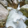 Flowing water through the canyon.- Sculptured Rocks Natural Area