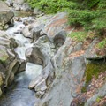 The view upstream from the bridge.- Sculptured Rocks Natural Area