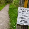Start of the ADA-accessible trail.- Alice Bemis Thompson Wildlife Sanctuary