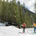 The trails are used by skiers and snowshoers.- Sea-to-Sky Gondola Summit