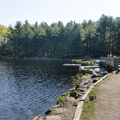 The dam and bridge over the outflow.- Schreeder Pond