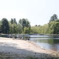 The swimming area.- Schreeder Pond