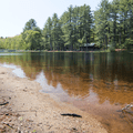 Clear waters across the pond.- Schreeder Pond