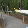 Kayak/canoe railing system to get your watercraft to the river.- Lower Platte River: M-22 Bridge to Lake Michigan