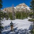 Approaching the peak.- Reids Peak