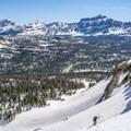 The majestic Hayden Peak sits in the background.- Reids Peak