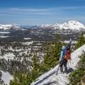 Taking in the views.- Reids Peak