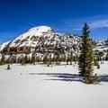 Looking at the ski descent on Reids Peak.- Reids Peak