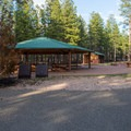 One of two roomy group site at Ten-X.- Ten-X Campground
