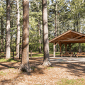 A pavilion in Mansfield Park.- Mansfield Hollow State Park