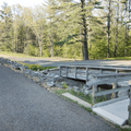 Handicap access to the Levy near the picnic area.- Mansfield Hollow State Park
