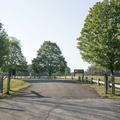 The parking area on Bassett Bridge Road.- Mansfield Hollow State Park