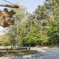A park sign on Bassett Bridge Road.- Mansfield Hollow State Park