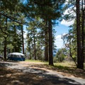 Some sites have canyon views.- North Rim Campground