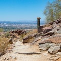 Looking back on downtown Phoenix as the trail climbs higher.- Holbert Trail to Dobbin's Lookout