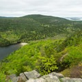 Echo Lake Beach from the top of the climb.- Beech Cliff Trail