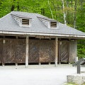 Changing rooms at Echo Lake Beach.- Echo Lake Beach
