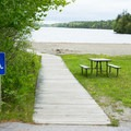 The beach is ADA accessible.- Echo Lake Beach