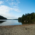 Serene views in the afternoon.- Echo Lake Beach