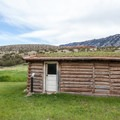 The log shop and converted schoolhouse.- Ewing-Snell Ranch