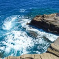 Swell and currents can be dangerous here. On flat days, there are amazing underwater formations!- Spitting Cave