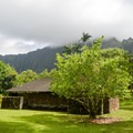 There are outdoor showers, potable water, and public restrooms available for use.- Ho'omaluhia Botanical Gardens
