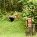 Historic charcoal kilns can be seen along the road.- Ho'omaluhia Botanical Gardens