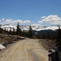 The road to the trailhead.- Blue Lakes Trail