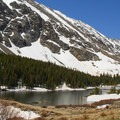 Early summer views of the Blue Lakes.- Blue Lakes Trail