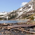 The shores of one of the lakes.- Blue Lakes Trail