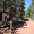 Near the entrance to Reservoir Campground.- Reservoir Campground