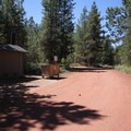 Red dirt roads are characteristic of Reservoir Campground.- Reservoir Campground