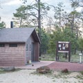 The campground vault toilets are relatively new and very clean.- Rock Crossings Campground